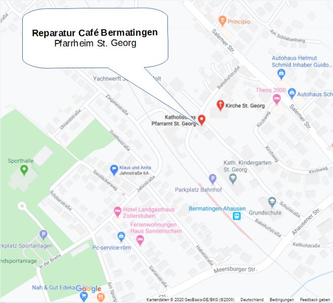 Anfahrt Reparatur Cafe Bermatingen